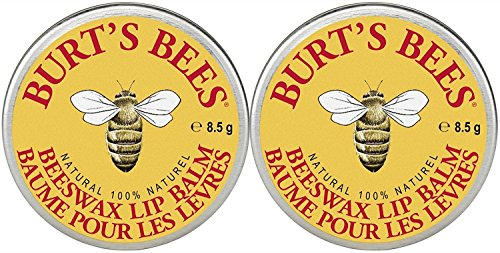 Burt's Bees Lip Balm Tin, Beeswax, 0.3 oz, 2 pack