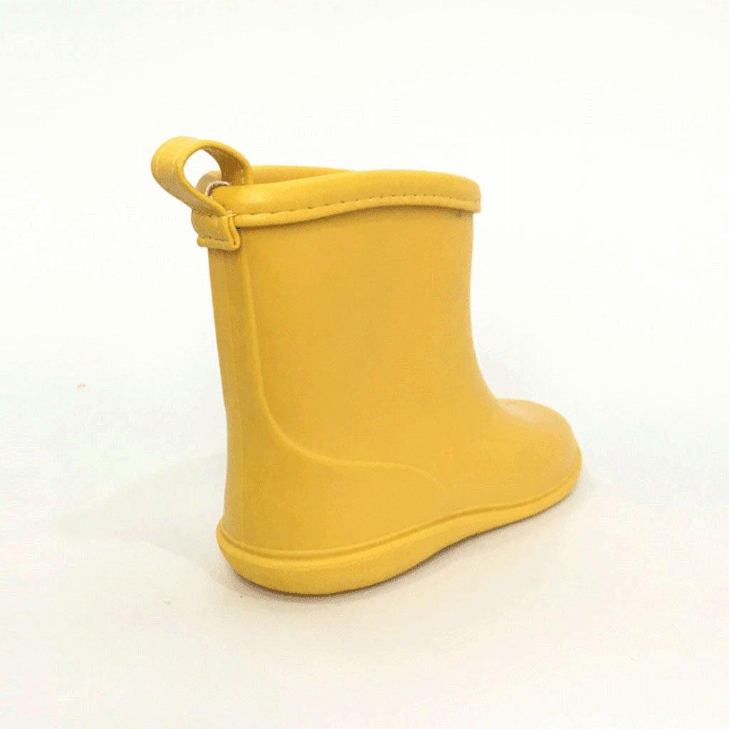 6 a/ños BAIYOU beb/é de goma para ni/ños Botas de lluvia impermeable botas de agua Wellington para 2