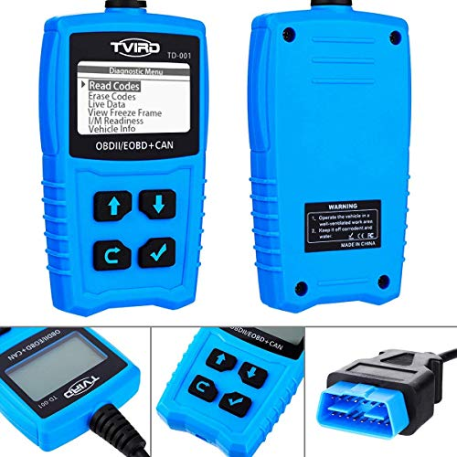 Tvird OBD 2 Scanner Universal Car Engine Fault Code Reader Classic Enhanced Diagnostic Scan Tool - Black and Blue by Tvird (Image #5)