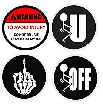 Funny Hard Hat Stickers Best Seller Pack Of  Warning Do Not Tell