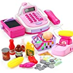 BB67 Cashier Toy Cash Register Playset | Pretend Play Set for Kids | Colorful Childrens Supermarket Checkout Toy with Microphone & Sounds | Ideal Gift for Toddlers & Pre-Schoolers | Shipped from USA