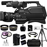 Sony HXR-MC2500 HXRMC2500 Shoulder Mount AVCHD Camcorder with 3-Inch LCD (Black) + 13PC Accessories Bundle Including .43x Wide Angle Lens, 2.2x Telephoto Lens, 3 Piece Multi-Coated Filter Kit + MORE