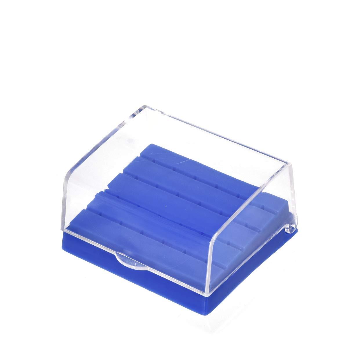 3 PCS Dental Bur Block Holder Case Autoclavable Square Shape Lab Bur Organizer Box Endo File Disinfection Box with 24 Holes Slots Color Random