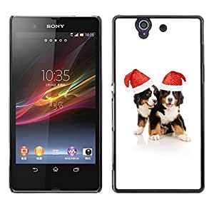 YOYO Slim PC / Aluminium Case Cover Armor Shell Portection //Christmas Holiday Cute Holiday Dogs Puppies 1143 //Sony Xperia Z L36H