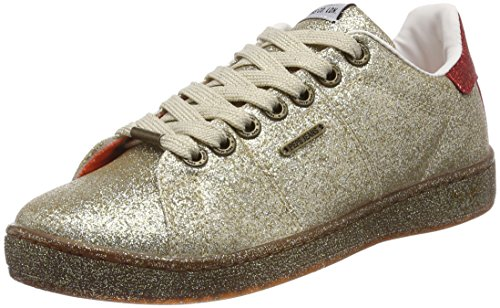 Pepe Brompton gold Or Femme Sneakers Jeans Part Basses zzwxFq1rP