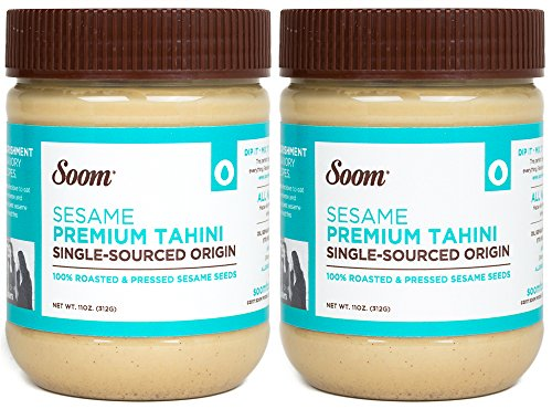 Sesame Paste - Soom Foods Pure Ground Sesame Tahini Paste 11oz (2 Pack)