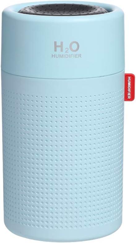Bleu Richgv/® Humidificateur dair portatif 750 ml grande capacit/é de bureau rechargeable par ultrasons diffuseur de brouillard deau diffuseur pulv/érisateur deau