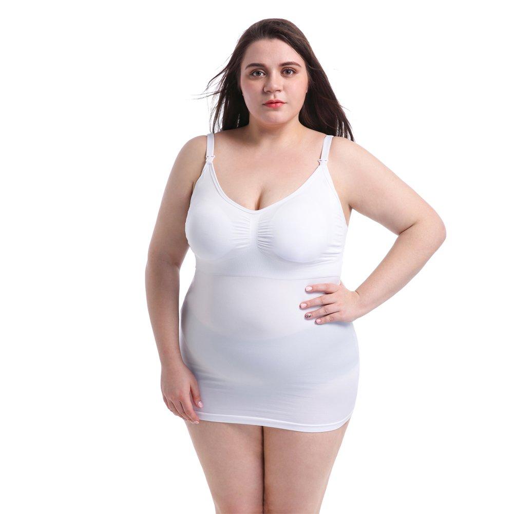 Ancdream Talla Grande Chaleco de Maternidad Tank de Lactancia Sujetador para Camiseta para Mujer/Top Premamá: Amazon.es: Ropa y accesorios
