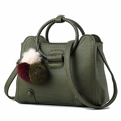Bolso Bag Mano de Bandolera CCZUIML verde Bolso Mujer Rosa de Crossbody R5TdWIwq