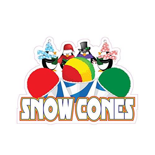 Snow Cones Concession Restaurant Food Truck Die-Cut Vinyl Sticker 14 - Food Concession