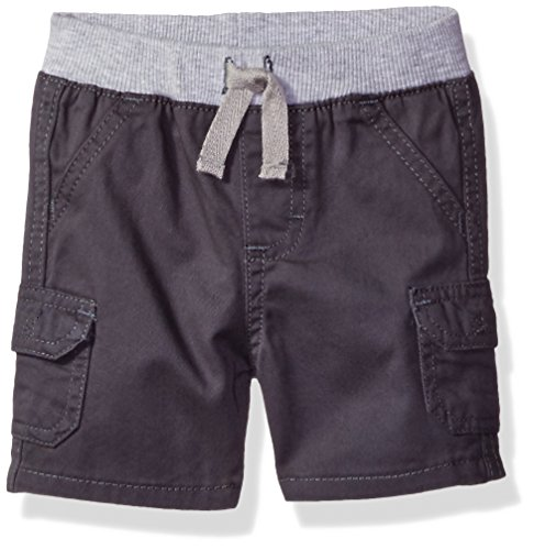 Wrangler Authentics Baby Boys' Infant Knit Waist Short, Gray, 18M by Wrangler