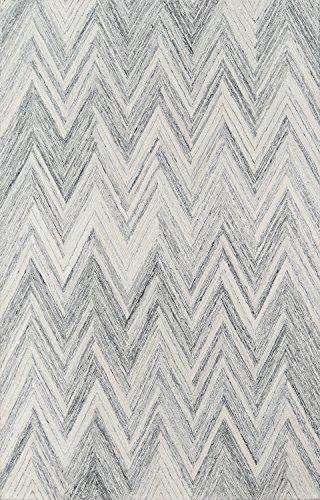 (Momeni COURTCRT-5GRY2030 Cortland Wool Area Rug, 2' X 3',)
