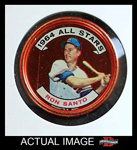 1964 Topps Coins # 146 All-Star Ron Santo Chicago Cubs (Baseball Card) Dean's Cards 4 - VG/EX (Chicago Cubs Coin Set)