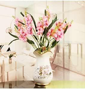 Flrgfg Flores Artificiales en macetas de Flores orquídeas casa ...