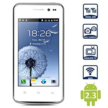 4 pulgadas A7562 Android 2.3 Smartphone MTK6515 1GHz Pantalla WVGA ...