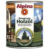 Alpina Premium Holzöl, 750 mL., Innen & Außen, Teak