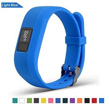 Bemodst Correa Strap para Reloj Garmin Vivofit 3, Pulsera de Silicona Brazalete de Reemplazo Banda de Repuesto para Hombre Mujer (Azul): Amazon.es: Deportes ...