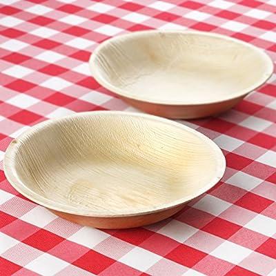 100 Pcs Round Eco-Friendly Palm Leaf Disposable Plates