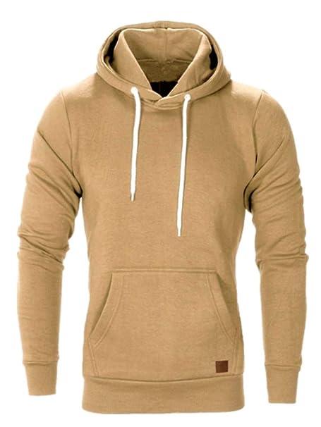 ZBSPORT Fitness Sudaderas con Capucha para Hombre Cosy Sport Outwear Sweatshirt XS-XXXXL (Negro