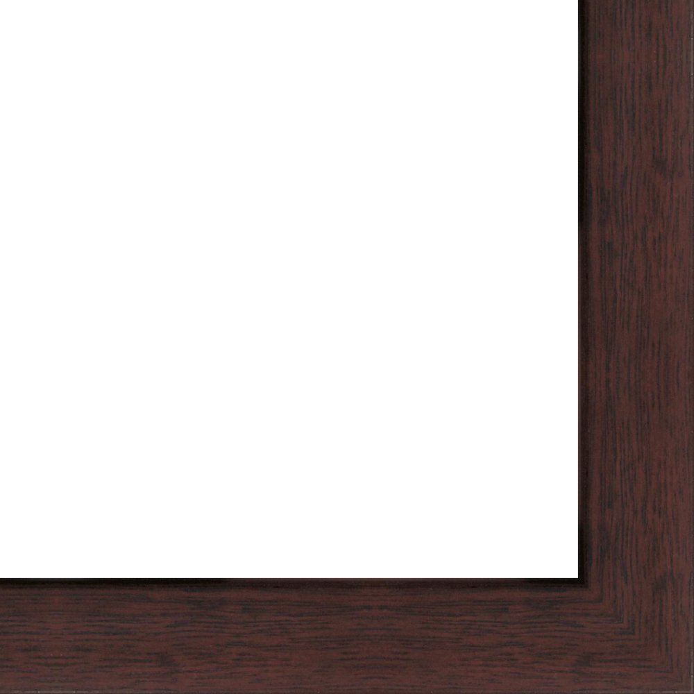 14x18 - 14 x 18 Walnut Flat Solid Wood Frame with UV Framer's Acrylic & Foam Board Backing - Great For a Photo, Poster, Painting, Document, or Mirror