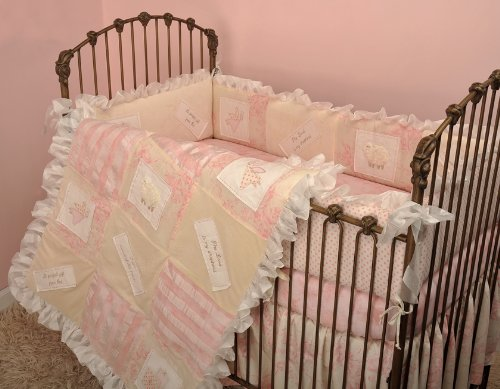 Cotton Tale Designs Heaven Sent Girl 4 Piece Crib Bedding Set (Elephant Cotton Tale)