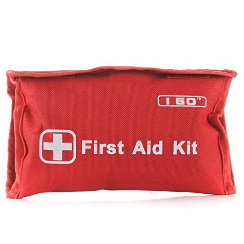 I Go Mini First Aid Kit -92 Pieces Compact Small Kit for Hiking Camping Home and Outdoors by I GO