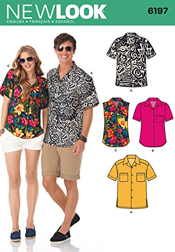 Simplicity Creative Patterns New Look 6197 Misses' and Men's Shirts, A -