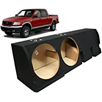 2001-2003 Ford F-150 Super Crew Truck Custom Fit Dual 12 Subwoofer Enclosure Sealed Sub Box