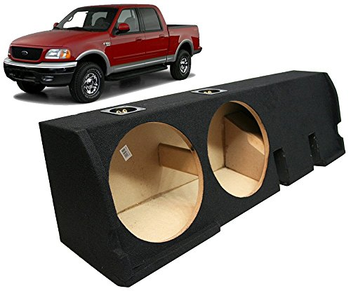 "2001-2003 Ford F-150 Super Crew Truck Custom Fit Dual 12"" Subwoofer Enclosure Sealed Sub Box"
