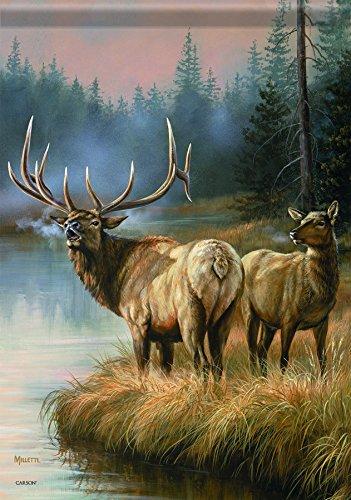 Elk Accent - Carson Home Accents Garden Flag, Elks Crossing