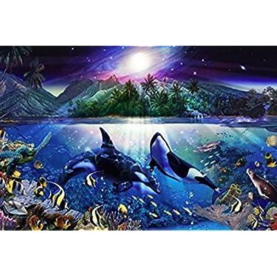 Christian Riese Lassen - Harmonious Orcas II Puzzle - 1000Piece: Toys & Games
