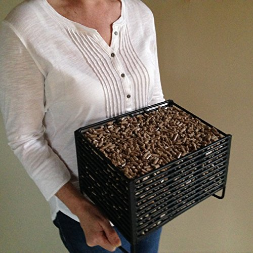 Wood Pellet Basket Heater, Alternative Heating Source Using Wood Pellets in Your Wood Stove or Fireplace