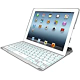 ZAGG  PROfolio+ Ultrathin Case with Backlit Bluetooth Keyboard for iPad 2 / iPad 3 / iPad 4 - White