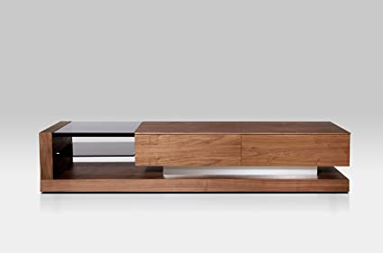 Amazon.com: Modrest Mali Modern Walnut TV Stand Walnut ...