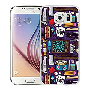Hot Sale Samsung Galaxy S6 Cover Case ,The Arsenal White Samsung Galaxy S6 Phone Case Unique And Fashion Design