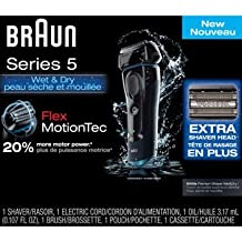 Braun Series 5-5040 FlexMotionTec Wet and Dry Shaver with Extra Shaver Head