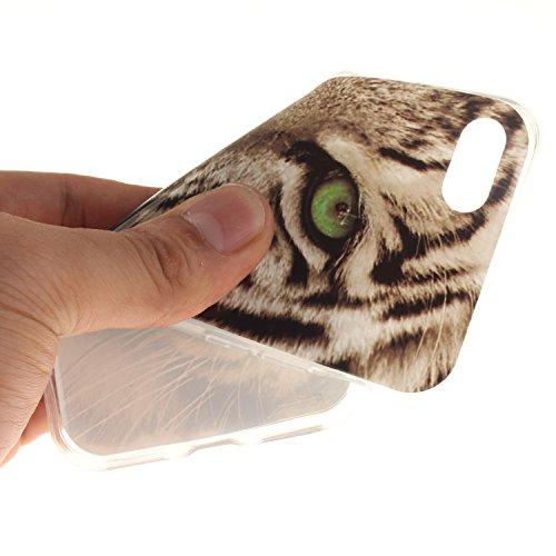 """Hülle iPhone 7 / iPhone 8 , LH Weißer Tiger TPU Weich Muschel Tasche Schutzhülle Silikon Handyhülle Schale Cover Case Gehäuse für Apple iPhone 7 / iPhone 8 4.7"""""""