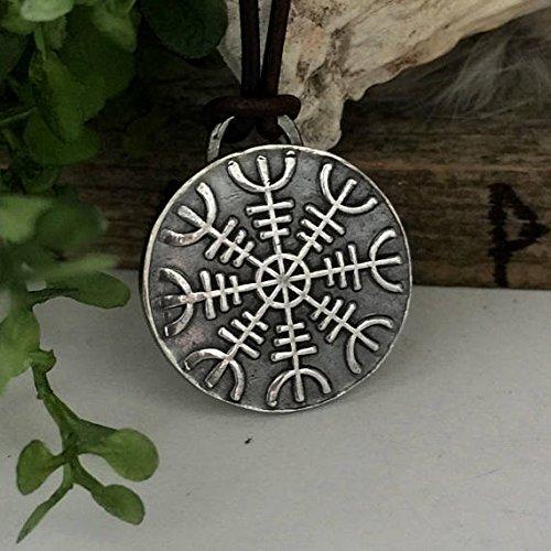 Amazon aegishjalmur pendant helm of awe necklace silver aegishjalmur pendant helm of awe necklace silver viking jewelry necklaces aloadofball Images