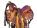 Orlov Hill Leather Co 12 13 Cute Purple Trail Pleasure Kids Children Youth Barrel Pony Western Saddle