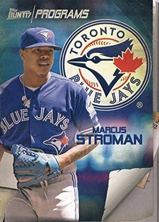 e662562594a 2017 Topps Bunt Programs  PR-MS Marcus Stroman Toronto Blue Jays Baseball  Card