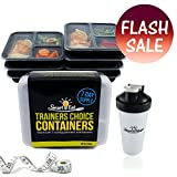 Smart Eat BPA-Free Reusable Food Storage Containers with Shake Bottle and Body Measuring Tape - 7 Pack