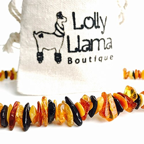 Adult Baltic Amber Necklace - All Natural Pain Relief for Adults to Help Migraines, Sinus, Arthritis and More! - Multi-Stone