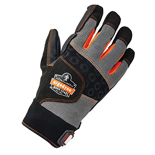 Ergodyne ProFlex 9002 Anti-Vibration Work Gloves, ANSI/ISO Certified, Full Fingered, Medium by Ergodyne (Image #1)