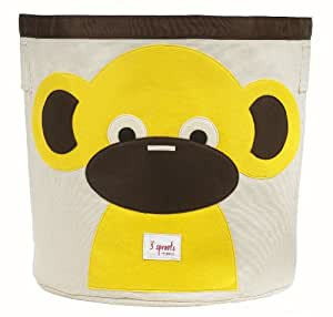 3 Sprouts Organic Storage Bin, Monkey (Discontinued by Manufacturer)