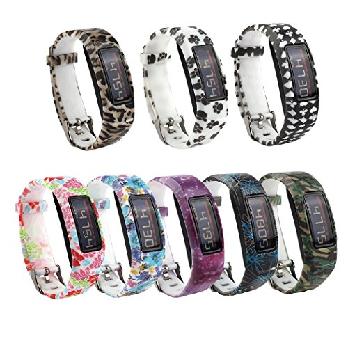 Tkasing 7 PCS Silicone Wristbands Replacement Bands with Clasps for Vivofit 2/Garmin Vivofit 2 Wrist Bands (No Tracker)