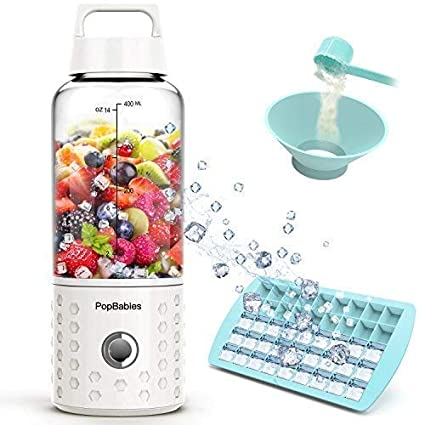Personal Blender, popbabies Travel Blender para Single, USB recargable Licuadora para batidos y batidos