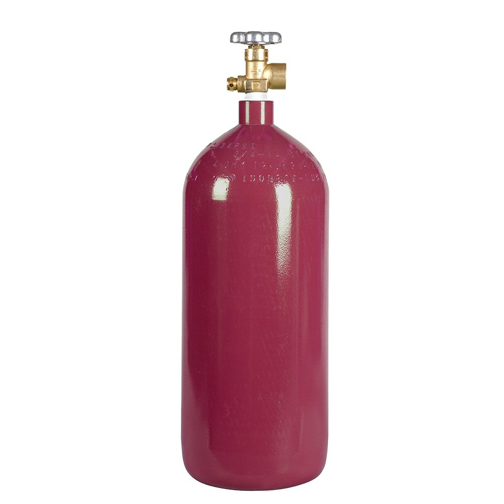 New 40 cu ft Steel Argon Cylinder with CGA580 Valve by Varies