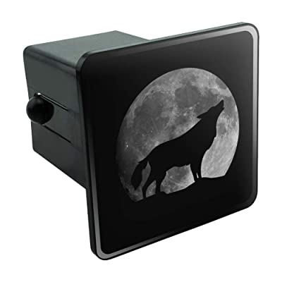 "Graphics and More Wolf Howling Moon Silhouette Tow Trailer Hitch Cover Plug Insert 2"": Automotive"