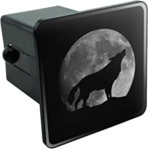Graphics and More Wolf Howling Moon Silhouette Tow Trailer Hitch Cover Plug Insert 2""