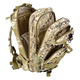 Tactical Backpack - Waterproof Hiking Bag,Spider-BX(TM)Military Camping Bag Oxford Nylon Tactical Backpack Rucksacks for Travel Hike Camp Climb Outdoor Sport Trip Game